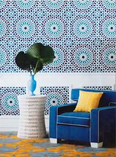 Whenever we own a house I'd love to incorporate some Moroccan inspired decor. I love all the pattern and color!