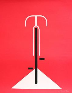 Red Bicycle by Eleanor Grosch. The essence of form here is amazing.