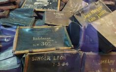 Kofferter fra en konsentrasjonsleir under den 2. verdenskrig