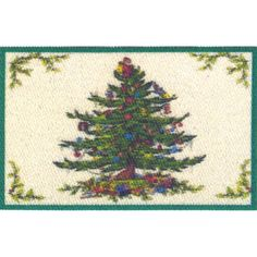 Miniature Christmas Tree Mat