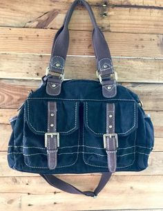 Fossil Messenger Crossbody Vintage Stock FS029 Black Canvas/Leather GUC in Clothing, Shoes & Accessories, Women's Handbags & Bags, Handbags & Purses | eBay