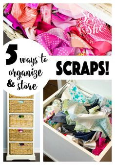 sewing fabric storage 5 Ways to Organize and Store Fabric Scraps — SewCanShe Sewing Room Storage, Sewing Room Organization, Fabric Storage, Sewing Rooms, Organization Ideas, Organizing Tips, Fabric Organizer, Sewing Desk, Woodworking Organization
