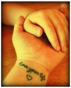 Live Laugh Love Tattoos on Wrist