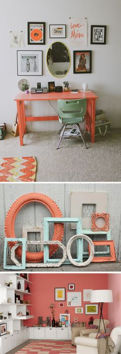 coral and navy frames for color