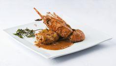 Pollo con langosta   Parador de Aiguablava