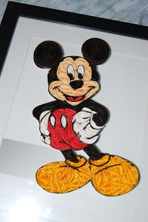 Elizabeth Arlene Quilled Creations: Quilled Mickey Mouse.