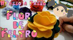Flor de Feltro - Passo a Passo com Priscila Cunha