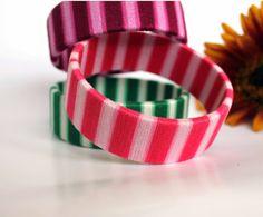 Original OOAK bracelet Saucy pink by OlgaMagicalThings on Etsy