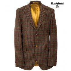 Harris Tweed Dogtooth Jacket, Copper