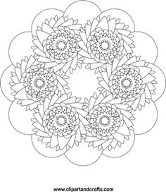 Flower wheel mandala coloring page Available to print from a safe website if you click through the pin. This one is going to take me some time