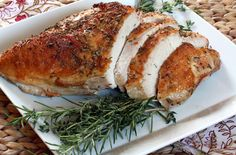 Just roasted a turkey breast this year? Here's a great recipe: Roasted  Rosemary Turkey Breast