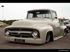 New Pickup Trucks, Bagged Trucks, Hot Rod Trucks, Cool Trucks, Ford 56, 56 Ford F100, 1956 Ford Truck, Classic Ford Trucks, Classic Cars