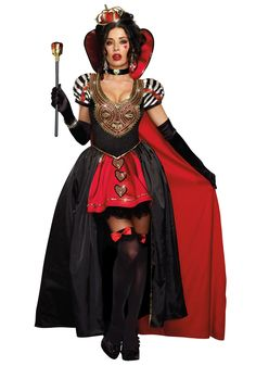 This Queen of Hearts Adult Costume w/ Cape is perfect for any woman who likes to make heads roll!