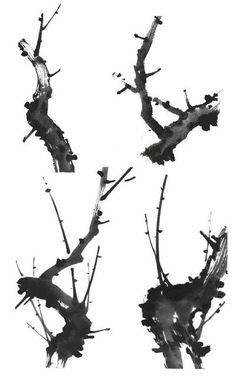 매화(梅花) 그리기 출처:운곡 강장원 이른 봄 추위 속에 맑고 깨끗한 향기를 그윽히 풍기며 피어난 매화의 아름다움은 빙기옥골(氷肌玉骨- 살결이 맑고 깨끗한 미인의 형용)이라 하여 옛부터 만인의 사랑을 받고 있다. 또한 매화나무의 줄기가 늙고 #digitalart Chinese Painting Flowers, Japanese Ink Painting, Korean Painting, Japanese Art, Watercolor Artists, Watercolor And Ink, Watercolor Paintings, Asian Artwork, Chinese Drawings