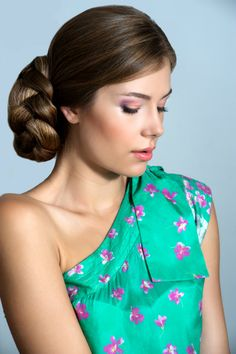 Elegant Simple Braided Bun Hairstyle