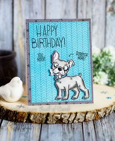 Houses Built of Cards: Scratch Here - Crazy Dog Birthday!