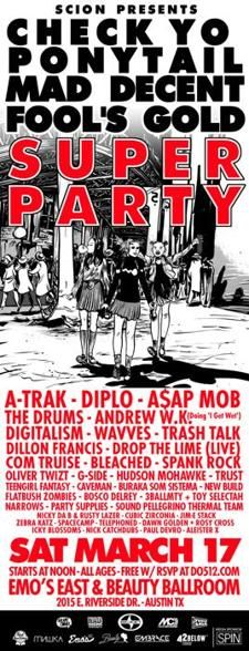Sat. Mar. 17 @ Emo's East and Beauty Ballroom (noon-7pm)