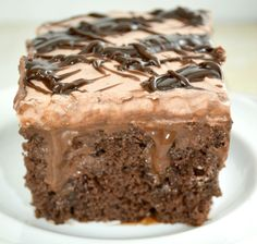 A Chocolate Lovers Dream ! Quadruple Chocolate Poke Cake! ( AKA Death by Poke Cake )