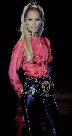 "californiamadnesss: ""Christy Turlington - Gianni Versace Fashion Show, 1992 """