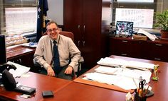 Michael Hoffman in his office.