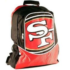"16"" - NFL Football - San Francisco 49ers Backpack by Little Earth. $10.95. Whether it's back to school, heading to the big game or a trek into the wilderness, this officially licensed backpack is the perfect accessory.  This backpack is constructed of very durable material to ensure long life and dependability.  Three roomy interior pockets let you store all your belongings and there's even cargo netting on the sides for more storage.  The adjustable shoulder straps ensure comfor..."