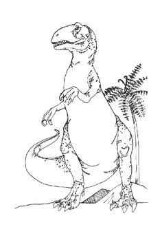 Un dangereux robot dinos avec une t te de requin dessin colorier coloriage pour enfants - Tyrannosaure a colorier ...