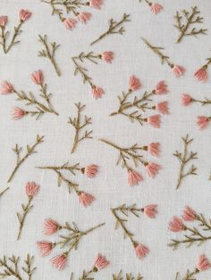 Hand Embroidery Patterns Flowers, Hand Embroidery Videos, Embroidery On Clothes, Simple Embroidery, Hand Embroidery Stitches, Hand Embroidery Designs, Embroidery Kits, Cross Stitch Embroidery, Beginner Embroidery