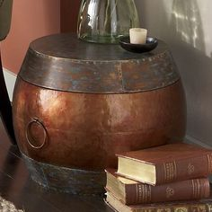 Copper Drum Table