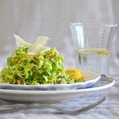 Shredded brussel sprout salad.