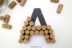 DIY 3D Buchstaben aus Korken 1