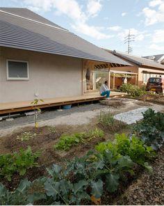 Wengawa House by Katsutoshi Sasaki is surrounded by a wooden veranda