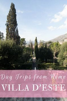 Villa D'Este is a gorgeous Renaissance style villa and garden just outside of Rome! It makes the perfect city escape for your next trip in Italy. Read about how to get there on the blog.