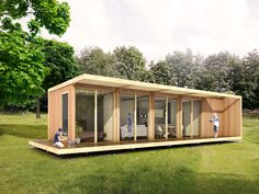 Retirees Are Joining The Tiny House Movement Tiny House Movement, Container Architecture, Architecture Design, Cool Sheds, Luxury Cabin, Up House, Tiny House On Wheels, Prefab Homes, Tiny Living