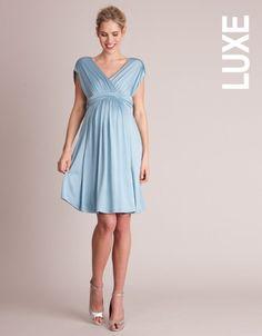 Duck Egg Blue Grecian Maternity Dress | Seraphine