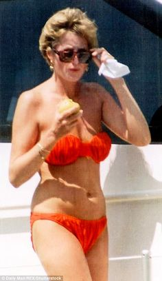 To look at these photographs of Diana in swimsuits and bikinis on holiday beaches is to be struck once again by how far ahead of the times she was.