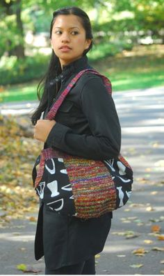Recycled Silk and Cotton Shoulder Bag