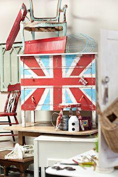 Red White Blue dresser