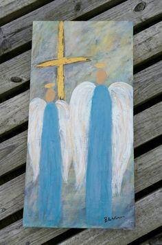 12 X 24 Angels by BeckyLindnerArt on Etsy