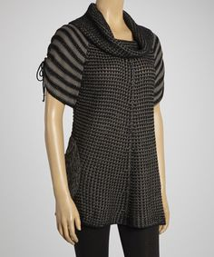 Take a look at this Charcoal Cowl Neck Sweater Tunic by VIP on #zulily today! $35 !!