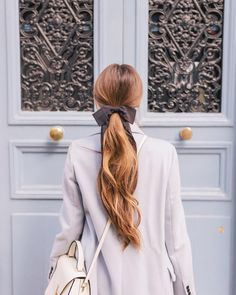"7,539 Likes, 65 Comments - Julia Engel (Gal Meets Glam) (@juliahengel) on Instagram: ""Tied with a  Linked this look in my profile! #hairbow #bows #paris #gmgtravels #frenchblue…"""