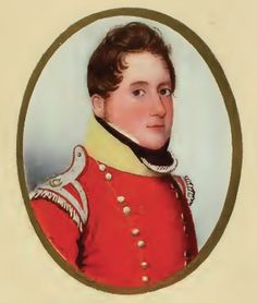 Captain Engelbert Lutyens, orderly officer at Napoleon's residence of Longwood House on St. Helena. In Napoleon in America, he is the bearer of the news that Napoleon has gone missing. In real life, Lutyens got into trouble when Napoleon presented the gift of a book to his regiment. For details see my blog post: General Bonaparte vs. Emperor Napoleon: The sad case of Engelbert Lutyens.