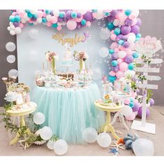 """124 Likes, 4 Comments - One Inspired Party (@oneinspiredparty) on Instagram: """"Here's a sneak peek of this amazing #rapunzelparty. Happy 3rd birthday Isabella! This table by…"""""""