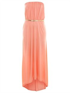 High-low Strapless Column with Belt and Pleatings Chiffon Prom Dress PD1945 www.simpledresses.co.uk