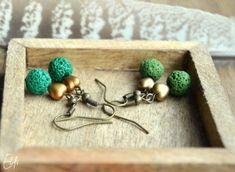 Náušnice z lávy - svetlá zelená Lava, Bobby Pins, Elf, Hair Accessories, Drop Earrings, Beauty, Vintage, Jewelry, Jewlery