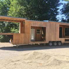 GIANT Tiny House x Shell Gooseneck Partial  Framing Roof Plans Windows Extras Listings 40 5th wheel tiny house trailer project This has some great links
