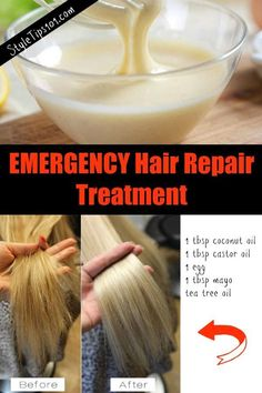5 Simple Steps Of Hair Remedies For Damaged Hair - Hair Care Tips Natural Hair Mask, Natural Hair Styles, Long Hair Styles, Hair Mask For Damaged Hair, Dry Damaged Hair, Natural Beauty, Organic Beauty, Diy Hair Mask For Split Ends, Dry Hair Ends