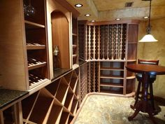 WineRacks.com's custom wood wine racks in a home in NY. These racks are made right here in America.