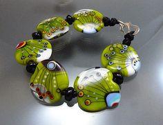 Melanie Moertel Lampwork Beads  Knotted handmade by melaniemoertel, $165.00