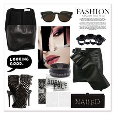 """""""Born free"""" by zabead ❤ liked on Polyvore featuring Yves Saint Laurent, Thierry Mugler, Givenchy, Giuseppe Zanotti, ESPRIT, Dsquared2, Cynthia Desser and afterdark"""