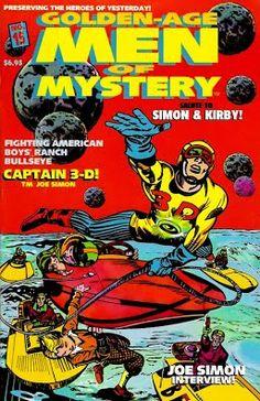 3-D Comic Books - 3dfilmarchive Comic 8, Comic Books, Joe Simon, Man Of Mystery, Jack Kirby, American Comics, Vintage Comics, Archetypes, Captain Marvel